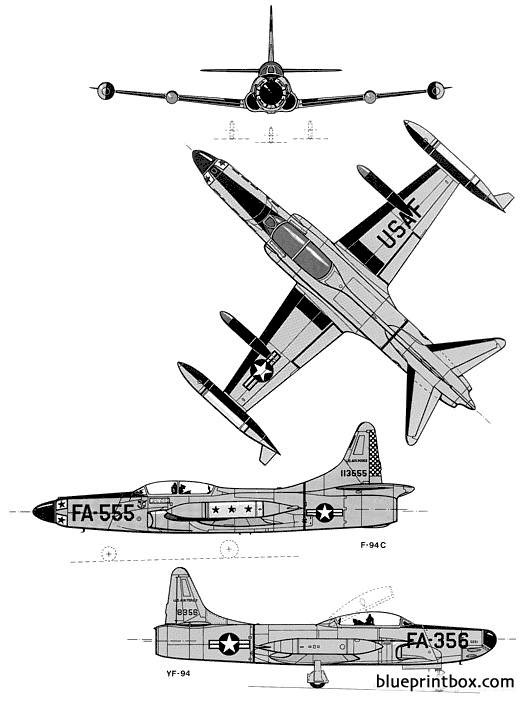 lockheed yf 94 f 94 c starfire model airplane plan