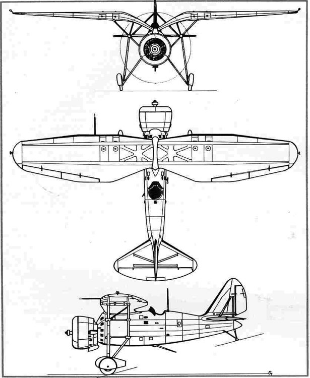 loire46 3v model airplane plan