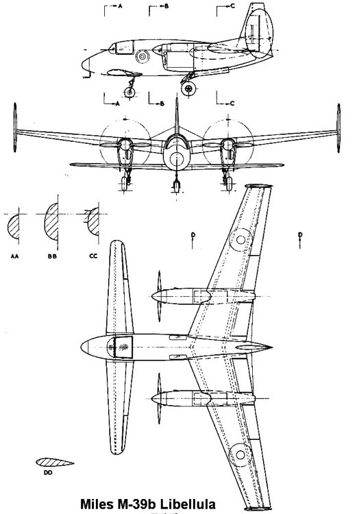m39 libellula 3v model airplane plan