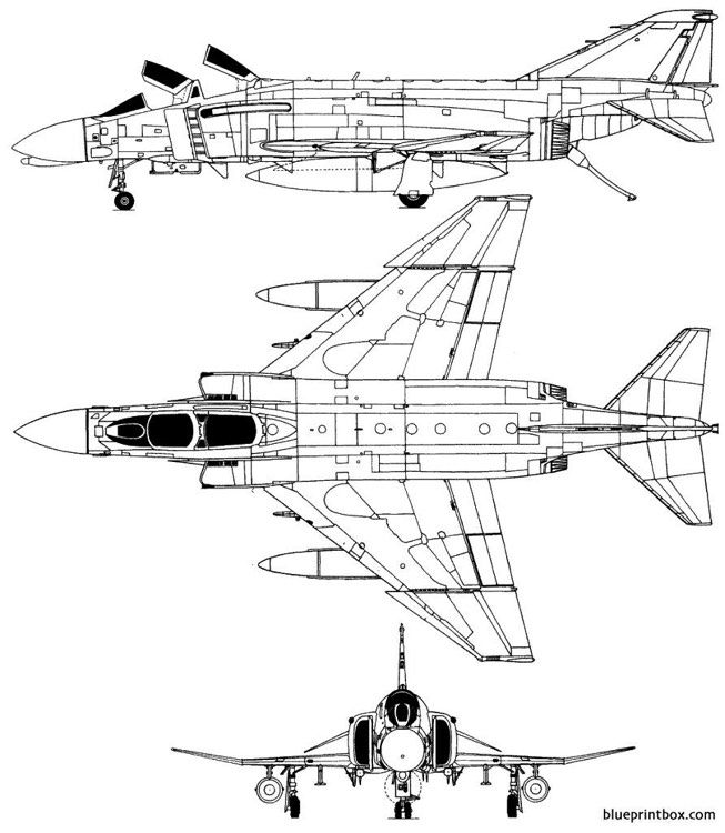 macdonnell f 4b phantom ii model airplane plan