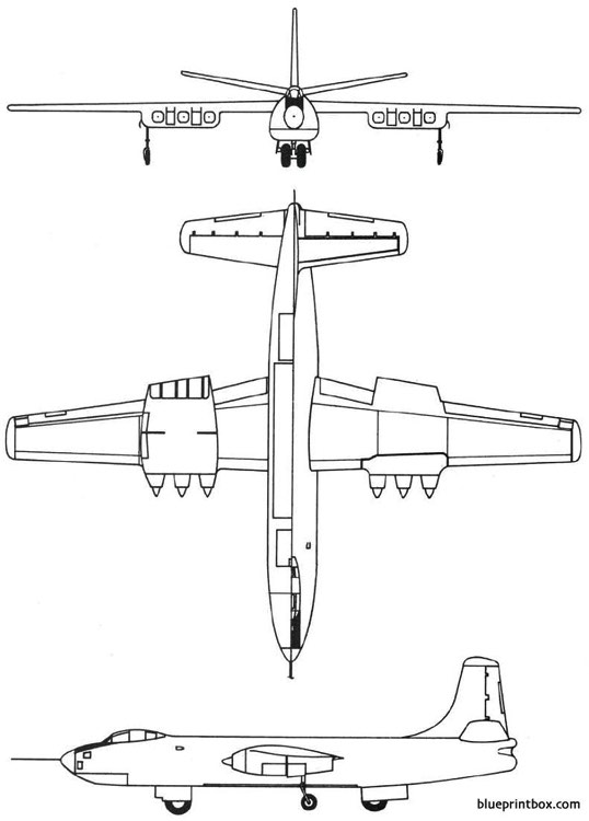 martin xb 48 1947 usa model airplane plan