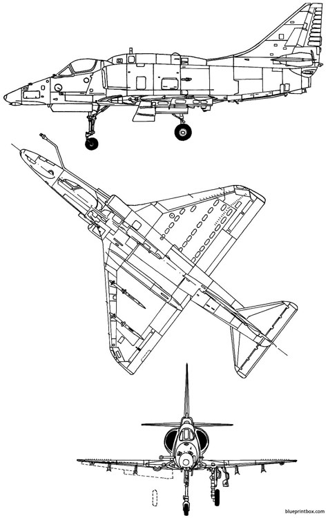 mcdonnell douglas a 4m skyhawk ii model airplane plan
