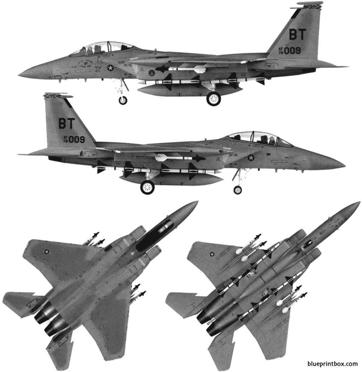 mcdonnell douglas f 15d eagle model airplane plan