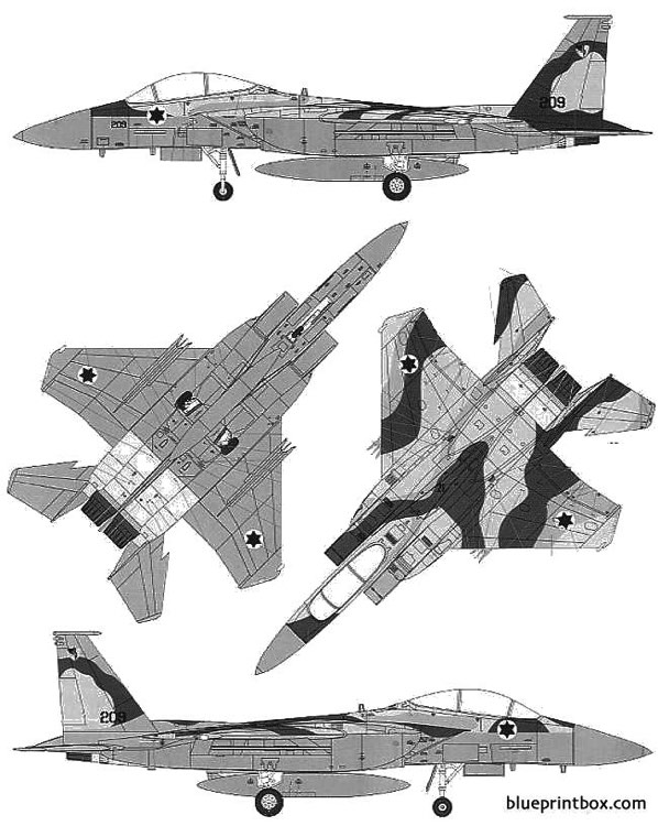 mcdonnell douglas f 15e strike eagle idf model airplane plan