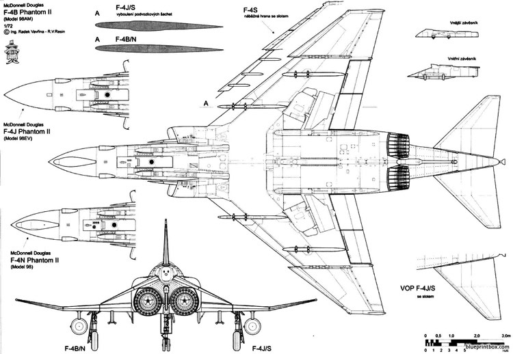 mcdonnell douglas f 4 phantom ii 5 model airplane plan