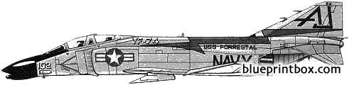 mcdonnell douglas f 4b phantom ii model airplane plan
