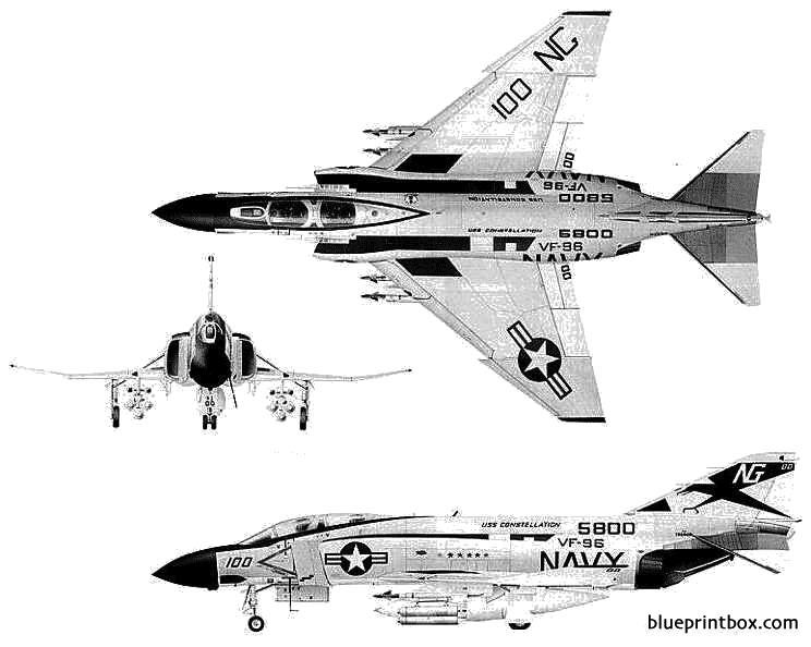 mcdonnell douglas f 4j phantom ii model airplane plan