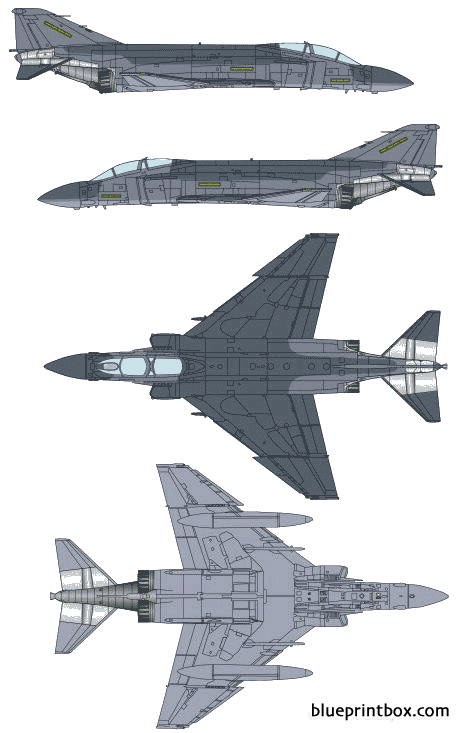 mcdonnell douglas f 4s phantom ii model airplane plan