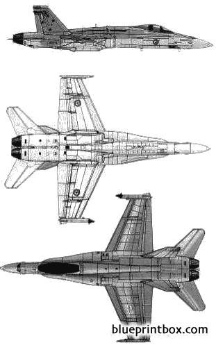 mcdonnell douglas fa 18a hornet model airplane plan