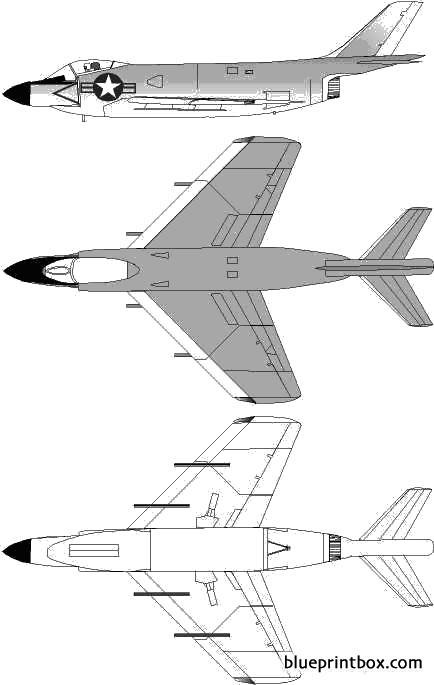 mcdonnell f3h demon 2 model airplane plan