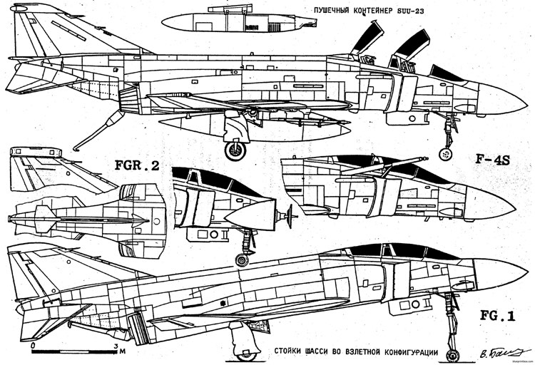 mcdonnell f 4b e s phantom 6 model airplane plan