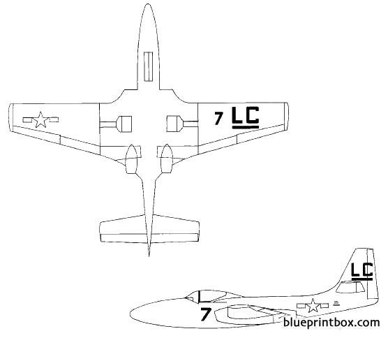 mcdonnell fh 1 phantom model airplane plan