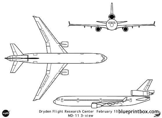 md 11 model airplane plan