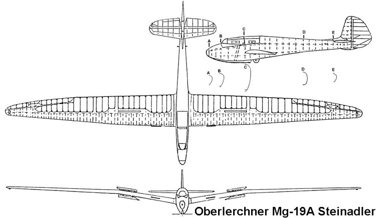 mg19a 3v model airplane plan