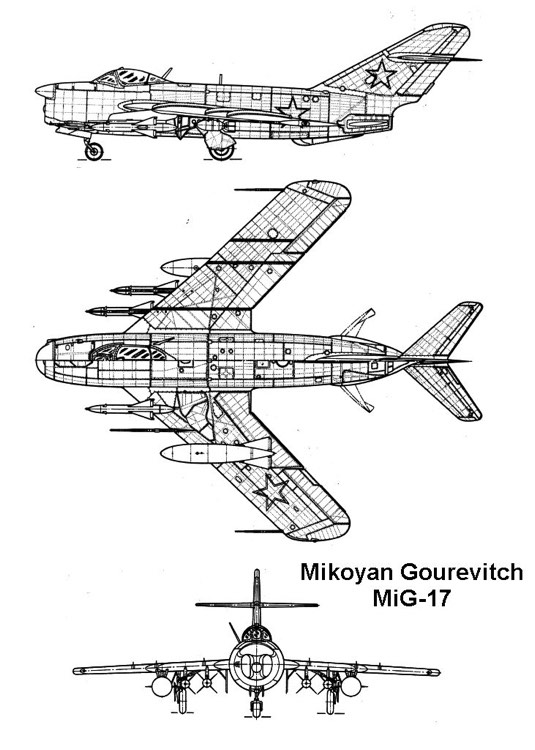 mig17 3v model airplane plan