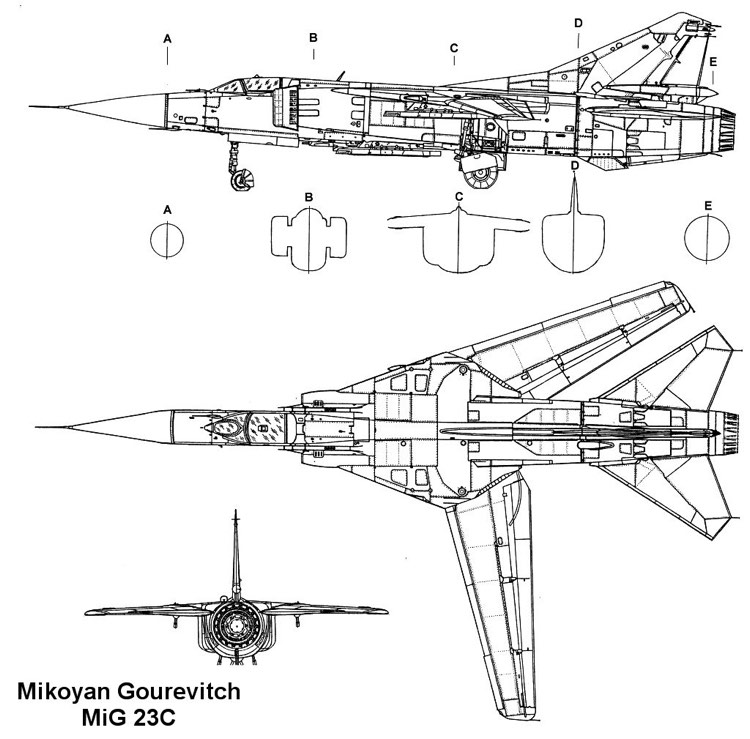 mig23c 1 3v model airplane plan