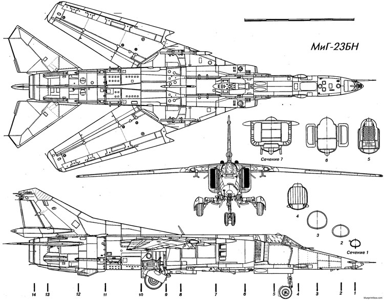 mig 23vn 2 model airplane plan