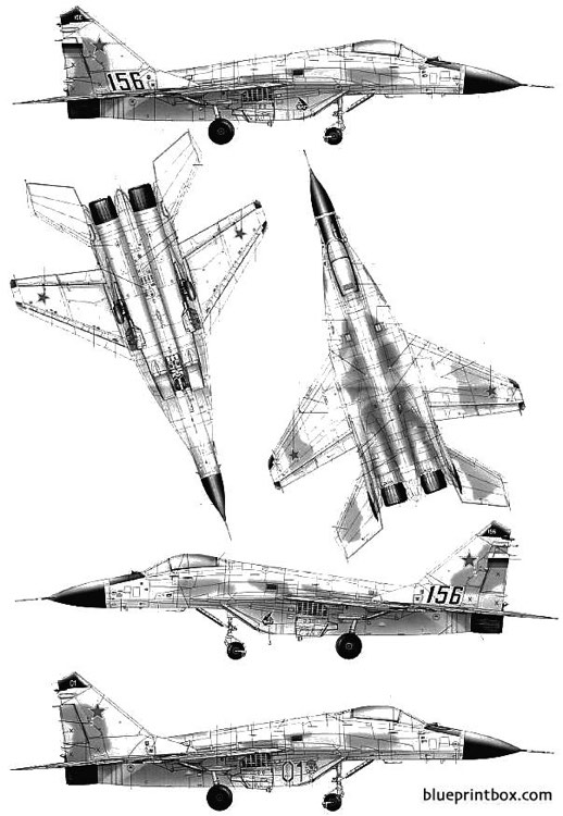 mig 29m fulcrum model airplane plan
