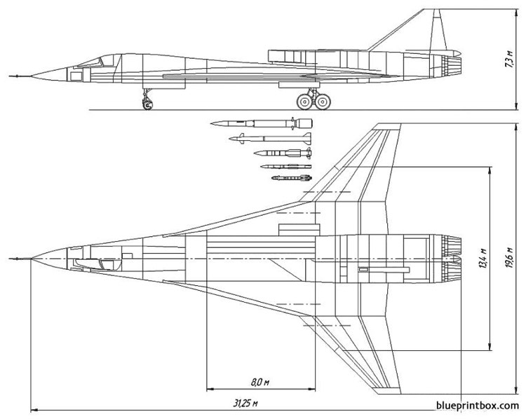 mig 701p multifunctional long range interceptor project model airplane plan