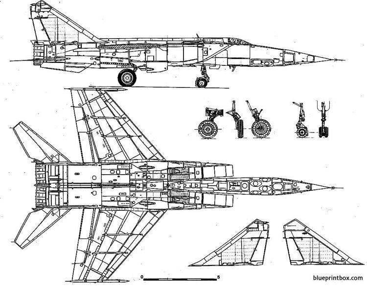 Mikoyan Gourevitch Mig 25 Foxbat 2 Plans