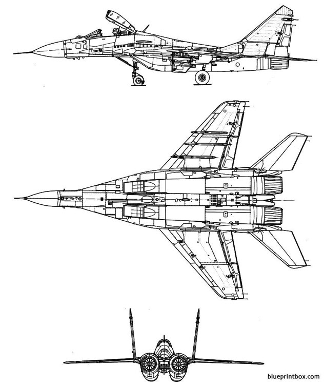 mikoyan gourevitch mig 29 fulcrum 2 model airplane plan