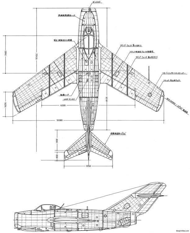 mikoyan gurevich mig 15bys 4 model airplane plan