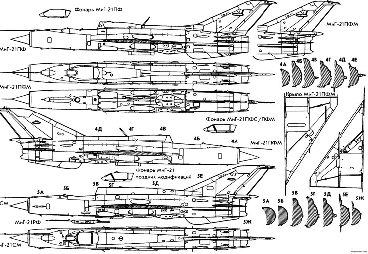 Mikoyan Gurevich Mig 21 19 Plans - Aerofred