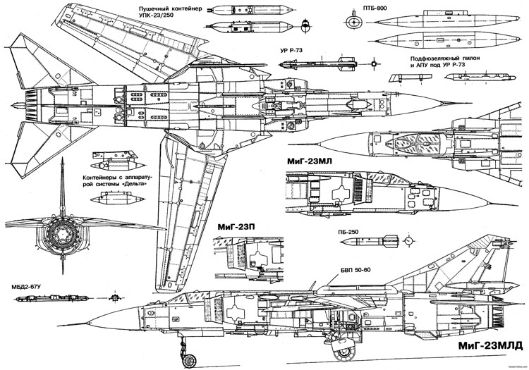Mikoyan Gurevich Mig 23 Mpd 3 Plans - Aerofred