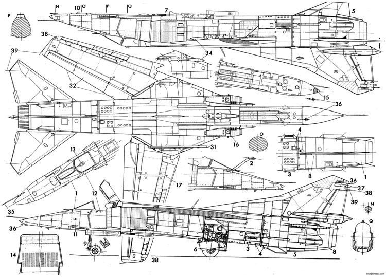 mikoyan gurevich mig 23ml mld p 7 model airplane plan