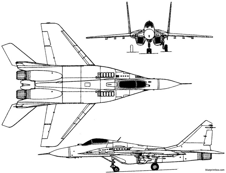 mikoyan gurevich mig 29 1977 russia plans - aerofred