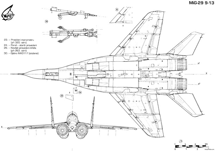 Mikoyan Gurevich Mig 29 4 Plans Free Download