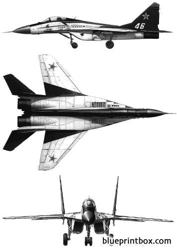 mikoyan gurevich mig 29 strizhi model airplane plan
