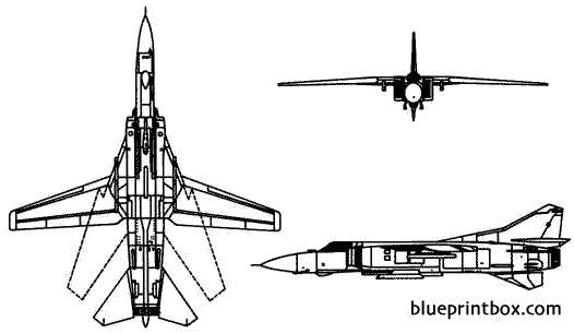 mikoyan mig 23 flogger 2 model airplane plan
