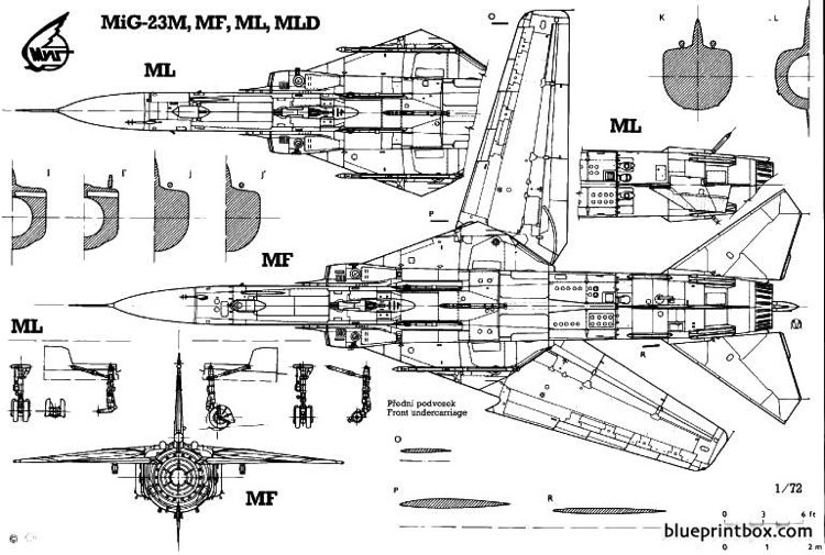 mikoyan mig 23mf 4 model airplane plan
