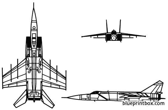 mikoyan mig 25 foxbat model airplane plan