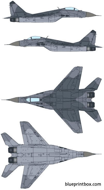 mikoyan mig 29 fulcrum model airplane plan