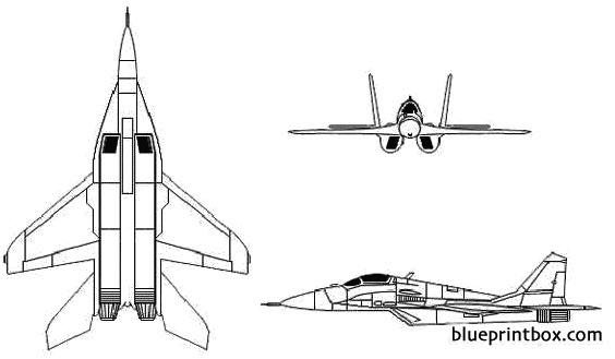 mikoyan mig 29 fulcrum 2 model airplane plan