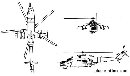 mil mi 24 hind 02 model airplane plan