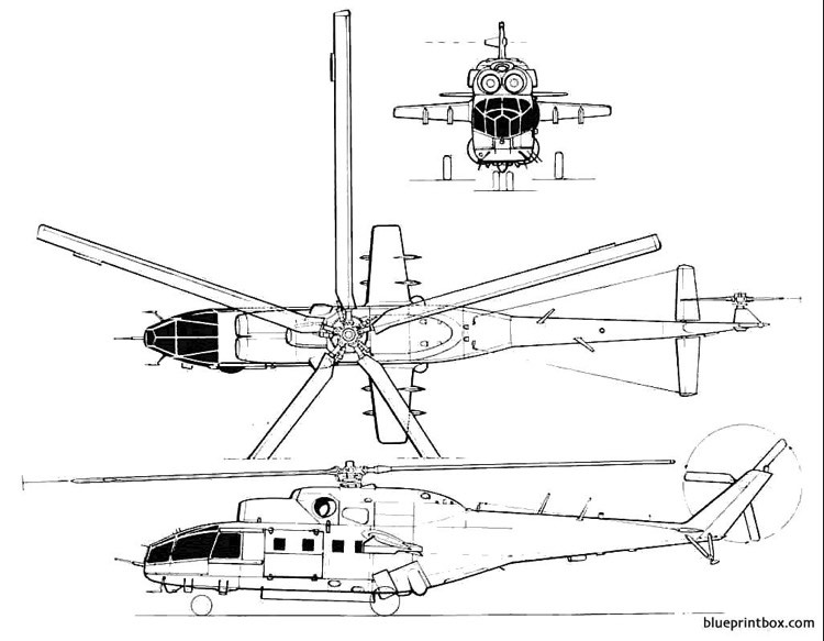 mil mi 24a model airplane plan