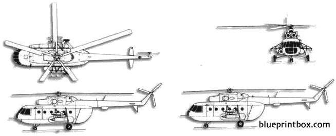 mil mi 8 hip 2 model airplane plan