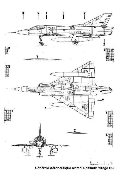 mirage3c 3v model airplane plan