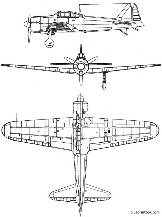 mitsubishi a6m zero model airplane plan