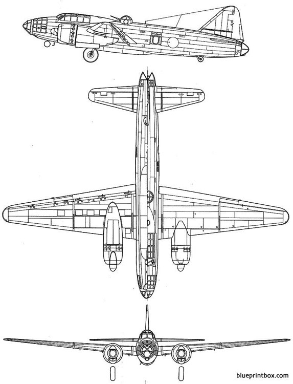 mitsubishi g4m2 betty model airplane plan