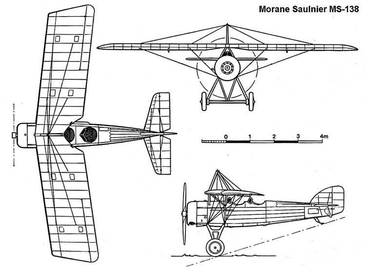 ms138 3v model airplane plan