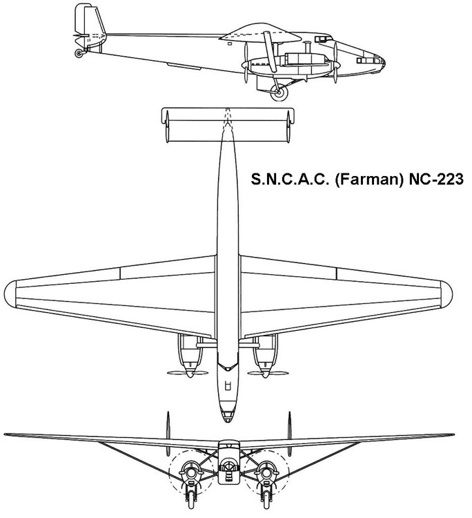 nc223 3v model airplane plan