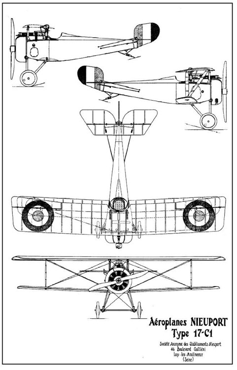 nieuport17 3v model airplane plan