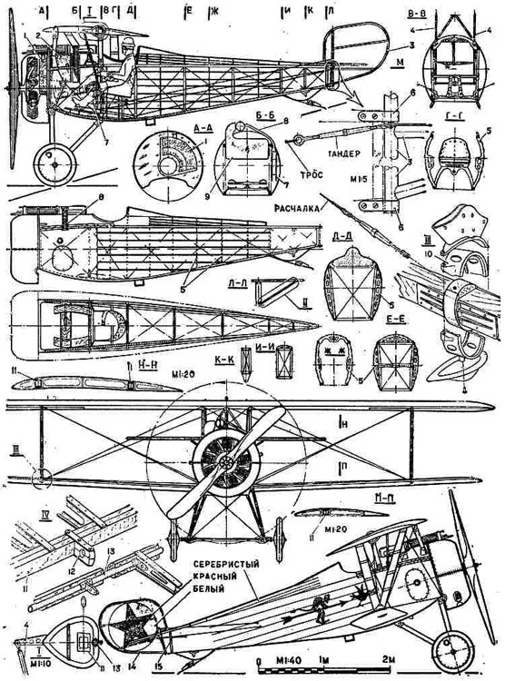 nieuport24 1 3v model airplane plan