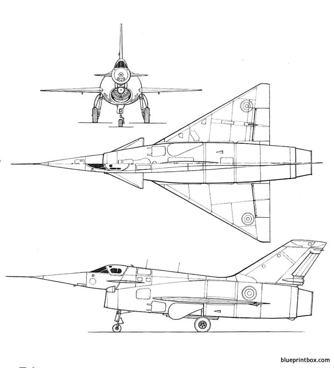 nord aviation nord 1500 griffon model airplane plan
