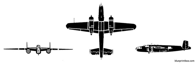 north american b 25 mitchell model airplane plan