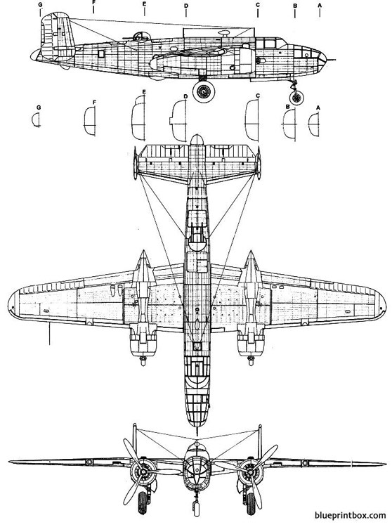 north american b 25c mitchell model airplane plan